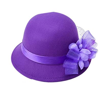 1d73b95d3 Women Vintage Wool Floppy Bowler Hat Wide Brim Fedora Hat with Big ...