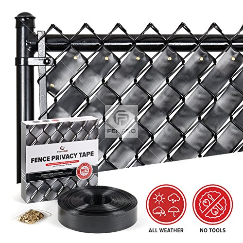 Fenpro Chain Link Fence Privacy Tape (Obsidian - Chain Fence Link Black