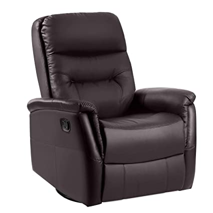 Awesome Recliner Chair Leather Recliner Sofa Chair Luxury Armchair 360 Degree Swivel Gaming Sofa With Padded Pu Leather Home Theater Seating Modern Chaise Pdpeps Interior Chair Design Pdpepsorg