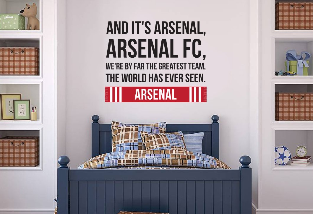 Arsenal World Greatest Team Song Wall Sticker Decal Football Art Print For  Home Bedroom Mural (Red): Amazon.co.uk: DIY U0026 Tools Part 51