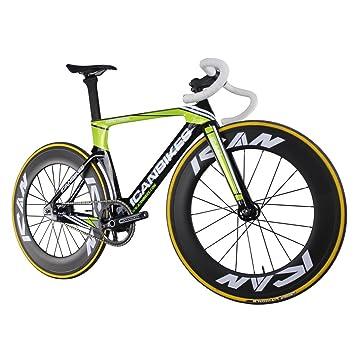 ICAN Full Carbon Aero Fixed Gear Single-speed Track Bike Sram Mnium ...