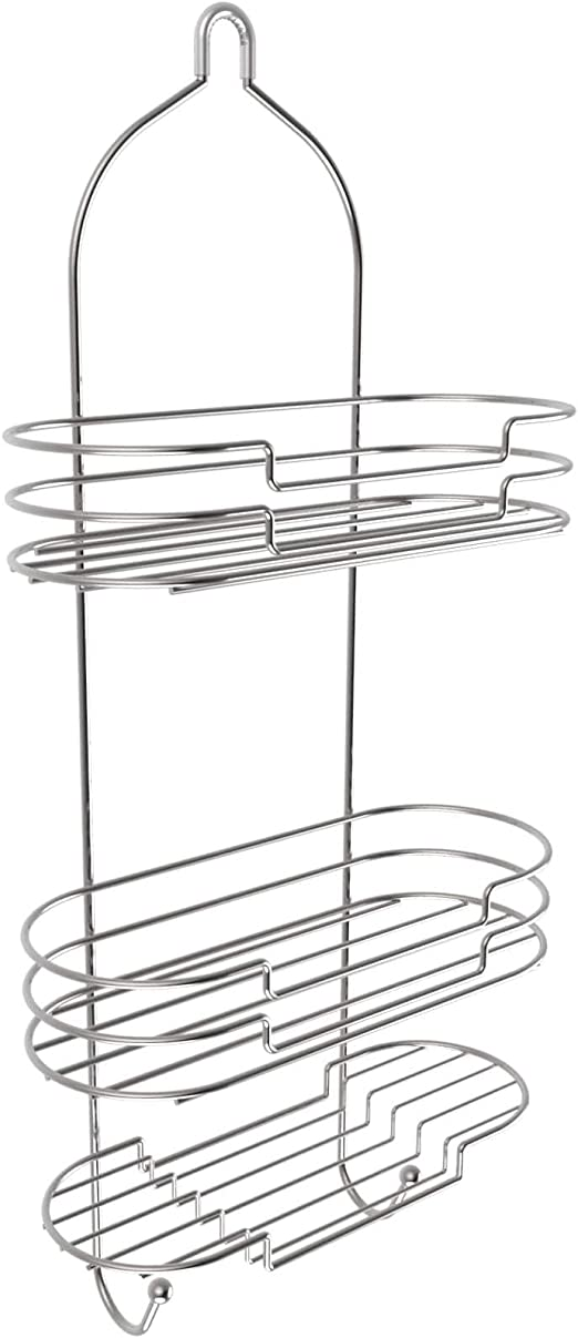 LDR Large Stylish Shower Caddy Black Finish