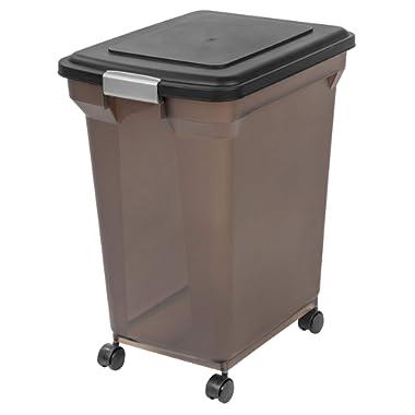 IRIS Premium Airtight Pet Food Storage Container, Tan