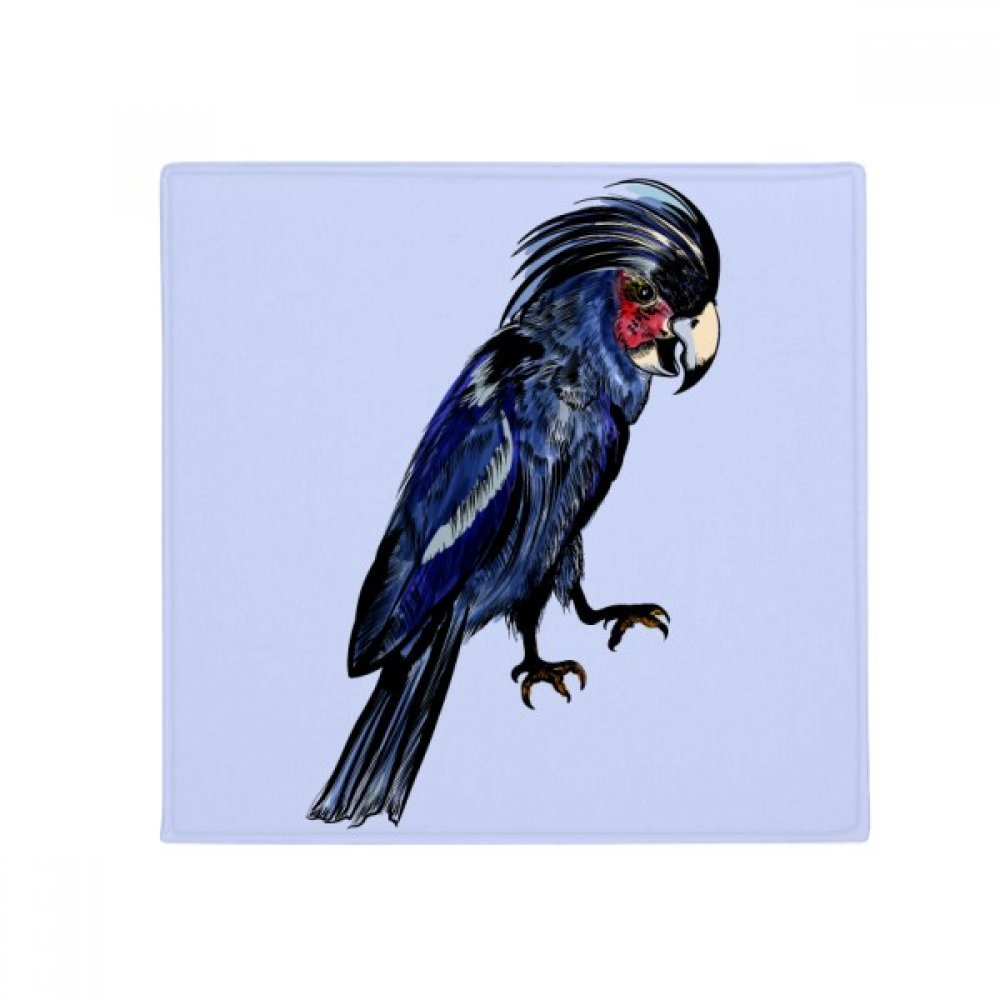 DIYthinker Deep bluee Parred Bird Anti-Slip Floor Pet Mat Square Home Kitchen Door 80Cm Gift