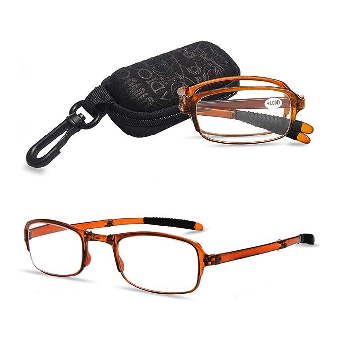 1814af0d1e9d VEVESMUNDO Foldable Reading Glasses Men Women Spring Hinge Presbyopic Mini  Anti-slip Eyeglasses With Case