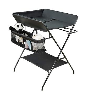 Amazon Com Qz Folding Changing Table With Storage Nursery