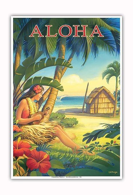 Pacifica Island Art Aloha-Hawai-bailarín Hawaiano con el ...