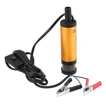 Qiilu 12V 38mm Bomba sumergible de transferencia de combustible diesel de aceite en agua eléctrico desmontable