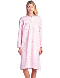 Casual Nights Women s Flannel Floral Long Sleeve Nightgown at Amazon ... 7ae02a6e9