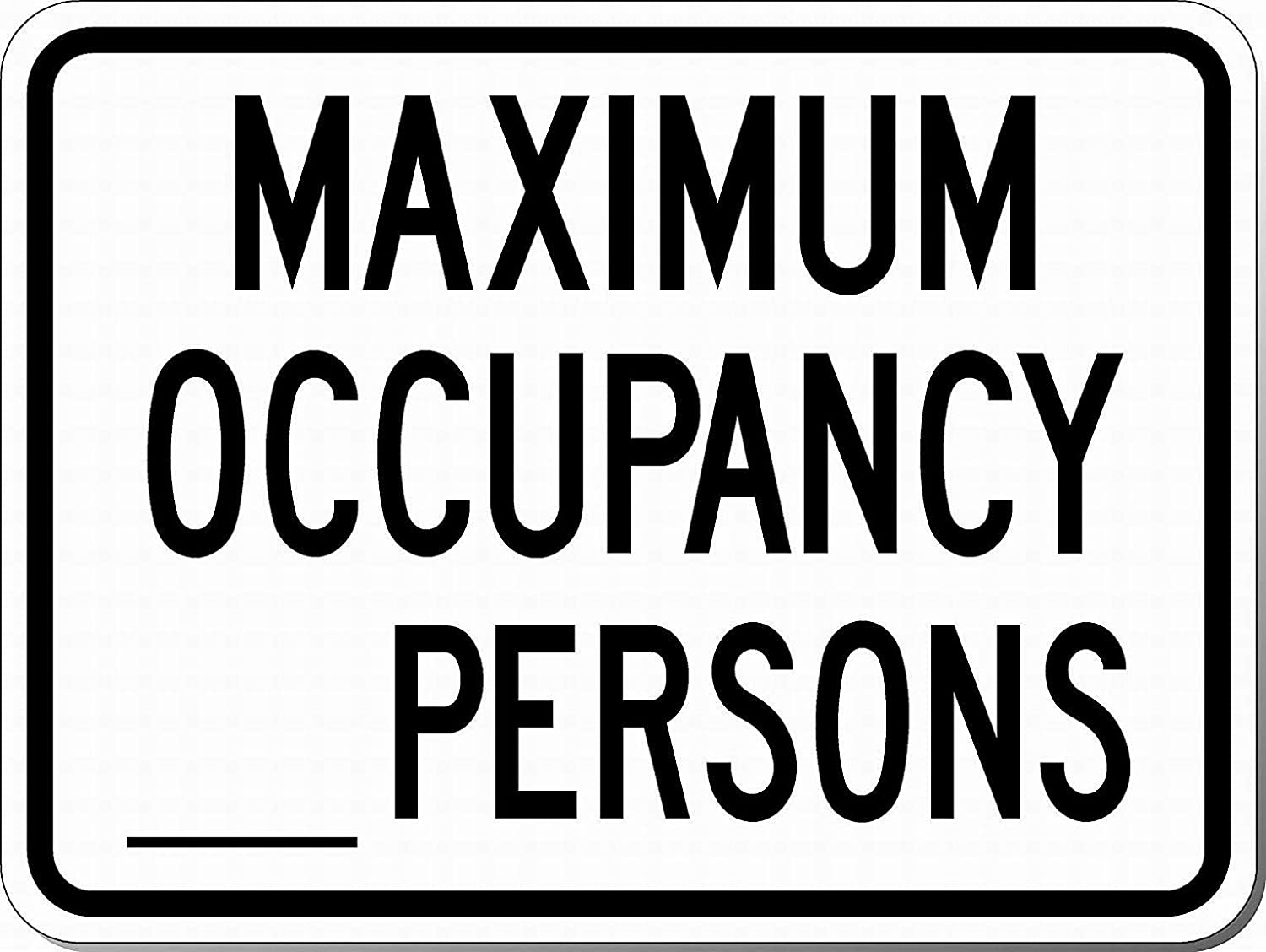 Persons Wall Art Warning Caution Tin Signs Metal Road Yard Decor by LoMall Safety Sign 8x12 Danger Sign Cecil Barnard Maximum Occupancy Blank Space