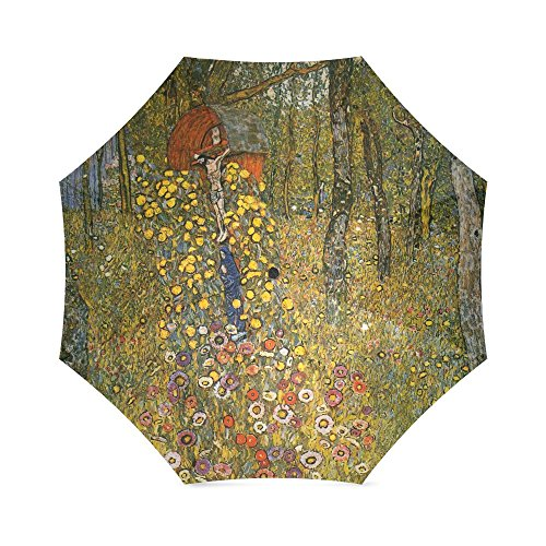 Friends Novelty Birthday Gifts Presents Farm Garden with Crucifix ¡ª Gustav Klimt 100% Fabric And Aluminium Foldable High-quality Umbrella