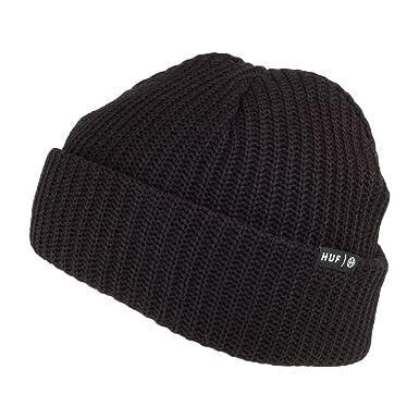 896902da829 HUF Usual Beanie Hat - Black 1-Size  Amazon.co.uk  Clothing