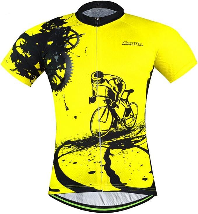 Aogda Cycling Jersey Men Bike Shirts Team Biking Clothing Bicycle Tights Short Sleeves Jacket
