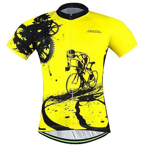 6c3a9573244 Amazon.com   Aogda Cycling Jersey Men Bike Shirts Breathable Short Sleeves  Tights Suit Biking Bib Shorts Bicycle Jacket Pants   Clothing