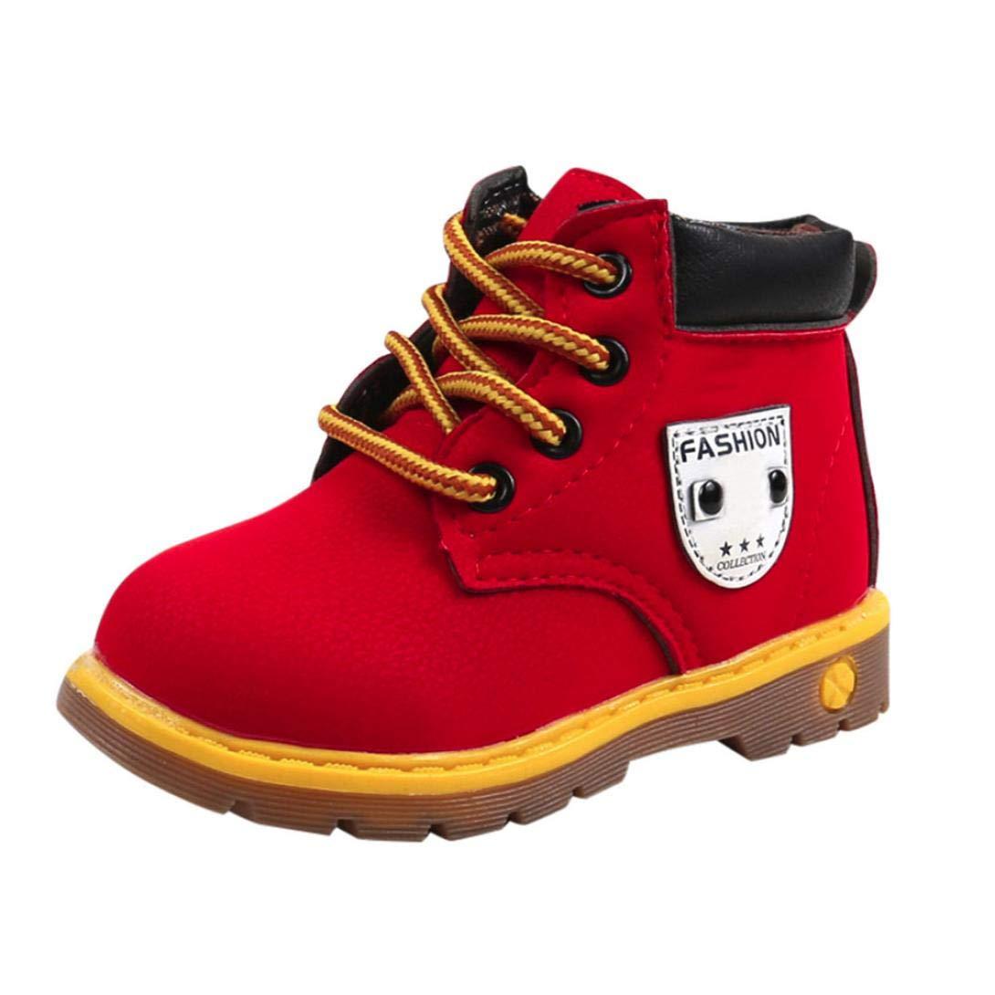 Webla(TM) Martin Sneaker Bottes Enfants, Bottillons Mode Chaud Garçons Filles Bébé Occasionnel Chaussures pour 1-6 Ans