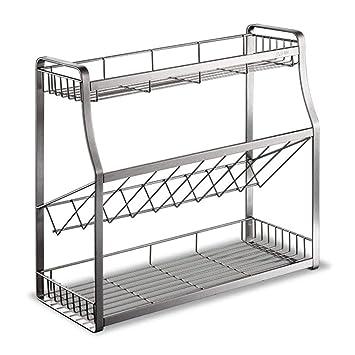 Amazon.com: CONGZWJ - Juego de 3 estantes para especias ...
