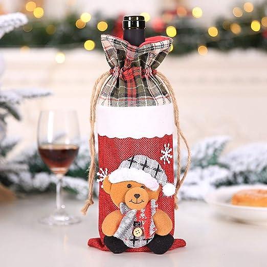 Chanhan Bolsas para Botellas de Vino, diseño navideño ...