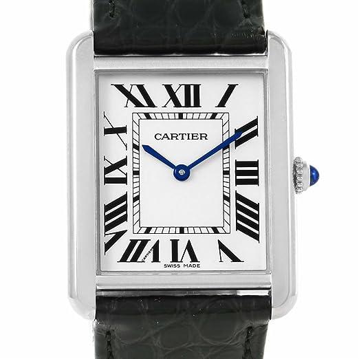 Cartier Tanque Solo Cuarzo Mens Reloj w1018355 (Certificado) de Segunda Mano: Cartier: Amazon.es: Relojes