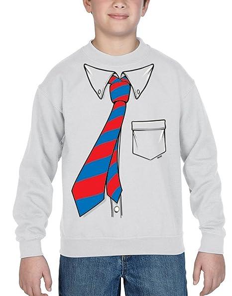shop4ever ® Crewnecks esmoquin de la camisa y corbata Tuxedo jóvenes sudaderas grande blanco 12628: Amazon.es: Ropa y accesorios