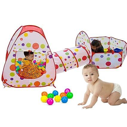 f513c8ca7 Parque De Bolas Para Niños Infantil Con Tienda de Campaña Infantil SKL  Juguete Piscina Bebe Armable
