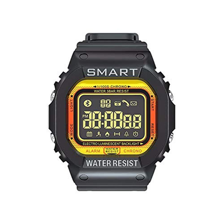 Bravetoshop Multifunction Smart Watch Fitness Activity Heart Rate Tracker Blood Pressure Sport Smartwatch Calorie Monitor Yellow