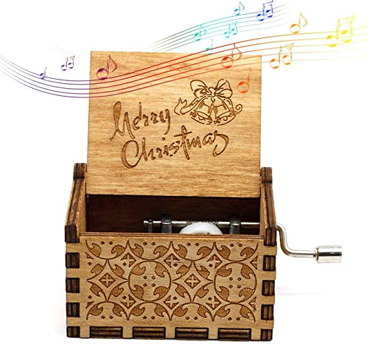 Womdee Music Box Merry Christmas Theme, Manual De Caja De Música ...