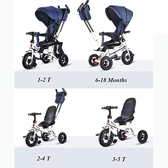 Amazon.com: UBRAVOO 4 en 1 cochecito de triciclo para niños ...