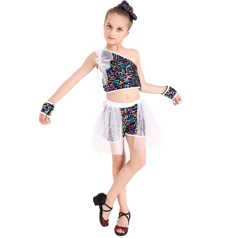 SUN Kids Girls' Sequins Yarn Ballet Dance Dress