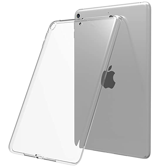 best sneakers 3ea65 cdb82 Luvvitt iPad Mini 5 Case 2019 Clarity Flexible TPU Silicone Slim and Light  Back Cover for Apple iPad Mini 5th Gen Generation - Clear
