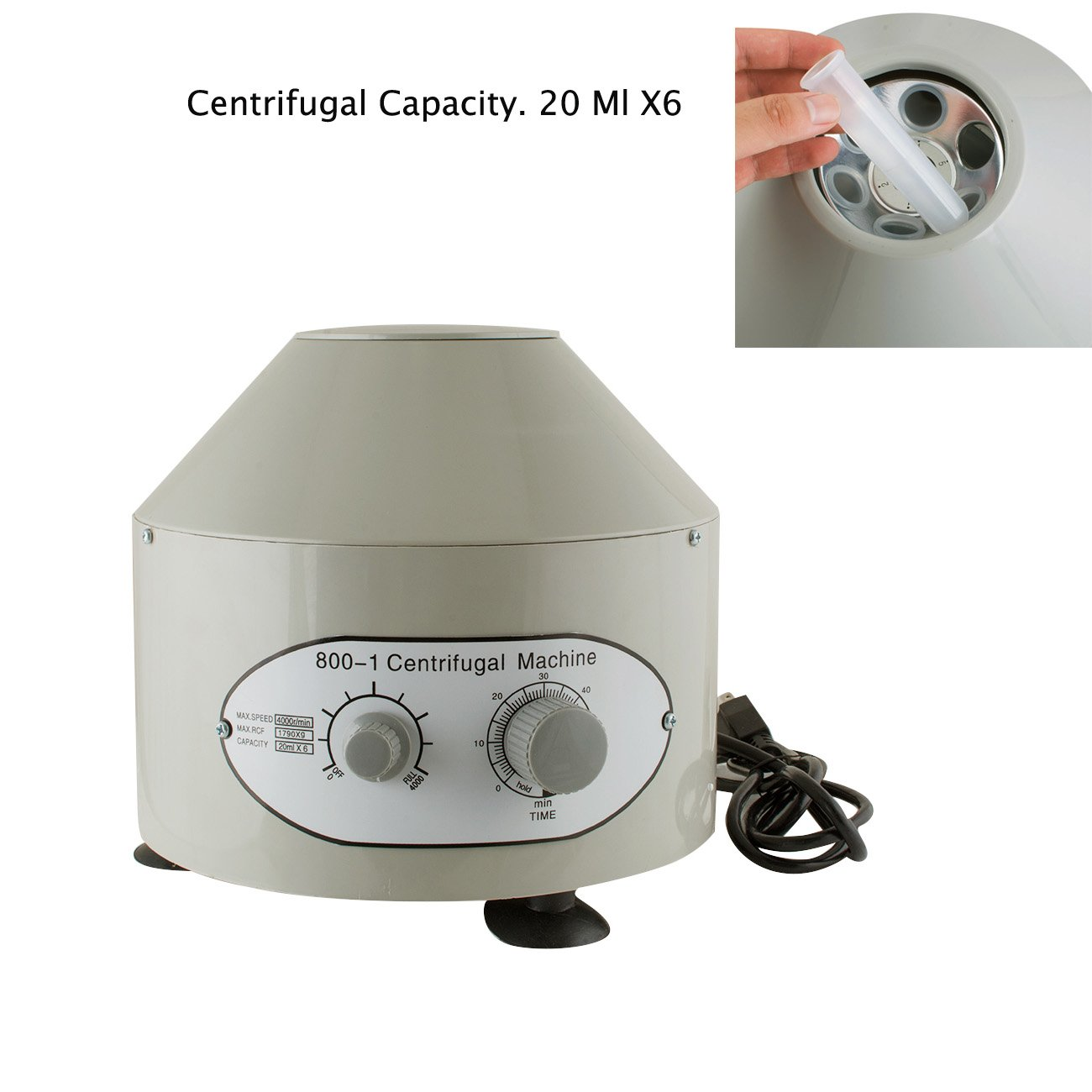Zinnor 20mlx6 Laboratory Centrifuge 110V Low Speed Electric Centrifuge Machine 4000rpm Medical Pract