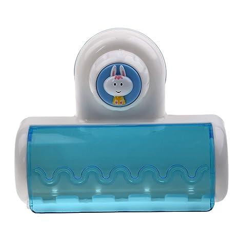 SODIAL(R) Soporte para Cepillo de Dientes, con Ventosa Colgando Cinco Cepillo de