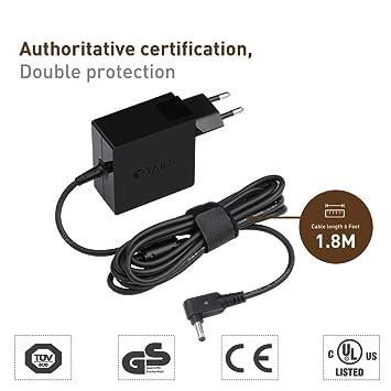 TAIFU 19V 2,37A Adaptador CA para ASUS Vivobook S14 S15 S406UA S510U X200MA X553S X553MA F553M ASUS ZenBook 13 UX331UA UX333FN UX331UN UX305CA UX410UA ...