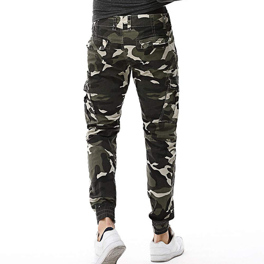 2a0f1fa1 Amazon.com: Men's Cotton Casual Military Army Cargo Camo Combat  Multi-Pockets Work Pants Fashion Long Trousers Cargo Pants: Toys & Games