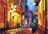 "20""x24"", Canvas print of oil painting,Puerto Rico,Old San Juan, Calle Cristo, Original print, print on canvas, signed by painter."