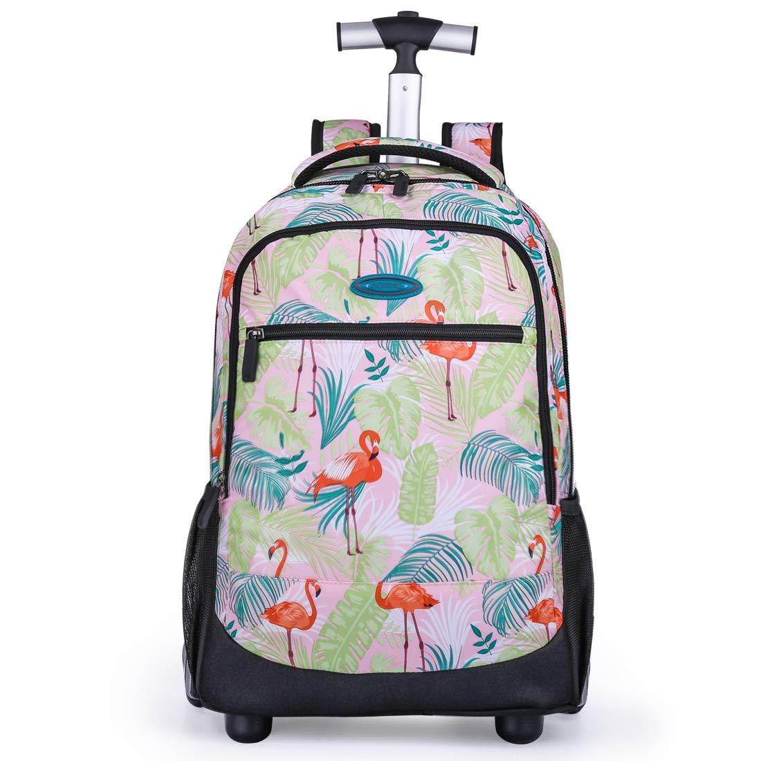 MARTER ZLX 2 Round Children's Trolley Bag, Male and Female Students with Wheel Print Bag Dual-use Travel Bag, Lightweight and Waterproof-5 by MARTER