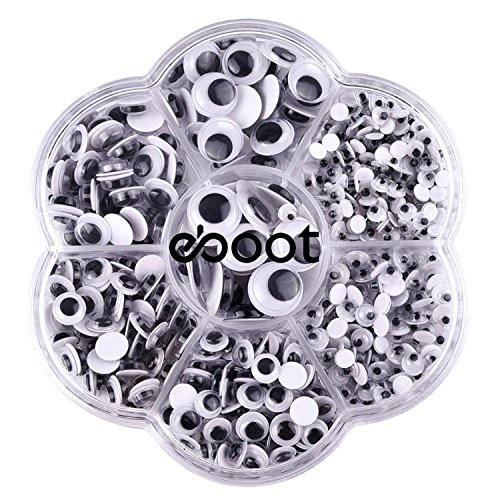 eBoot 700 Pieces Round Wiggle Googly Eyes with