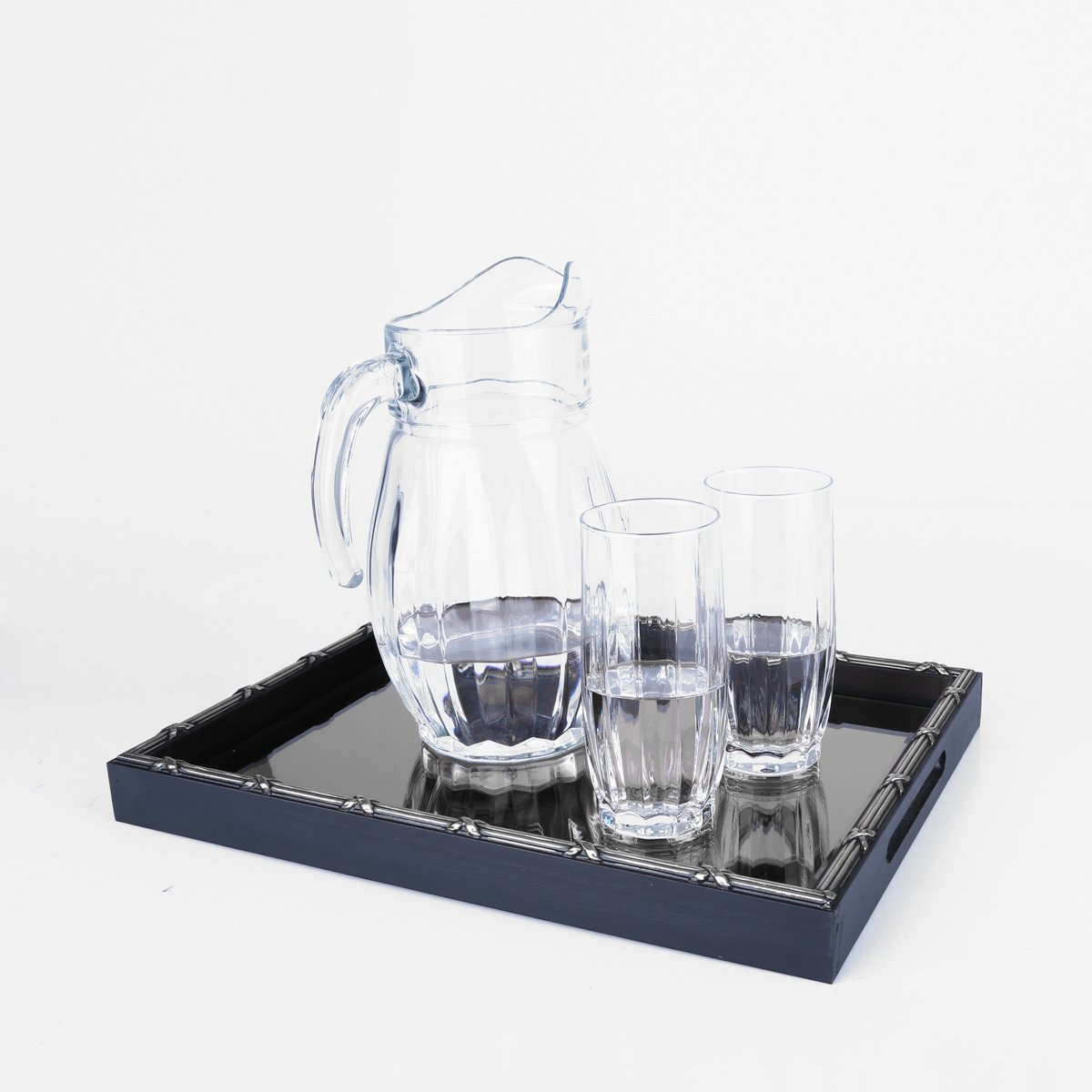 Woodart Croisé Wooden Serving Tray with Handles (Black, 15x11) by Wood Art (Image #3)