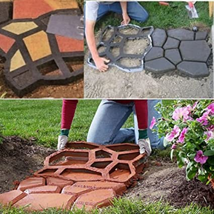 Vinus® 80 x 80 x hormigón Paving pavimento piedra molde jardín Walk eléctrica, patrón