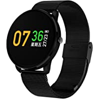 Jersh Electronic Smart Watch,High Quality Color Screen Fine Steel Strap Multifunction Smart Bracelet Fitness Tracker Unisex Activity Tracker Temperament Smart Watch