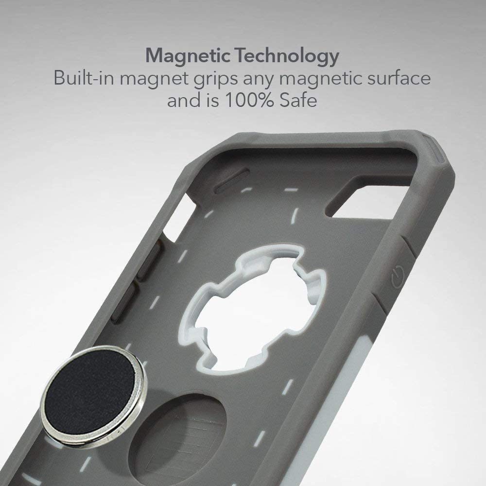 White Rokform Rugged Series Military Grade Magnetic Protective Phone Case with twist lock /& Universal Car Vent Mount for iPhone 8 /& 7