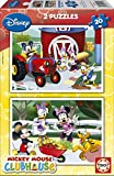 Educa 15290 Disney Mickey Mouse Club House - Puzzles (2 unidades, 20 piezas)