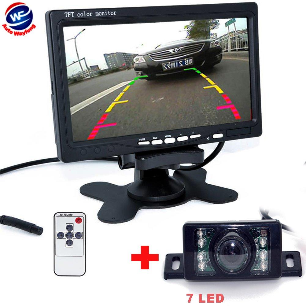 Auto Wayfeng WF® 7' TFT LCD Monitor+Night Vision Car Rear View System 7LED Night Vision Backup Camera
