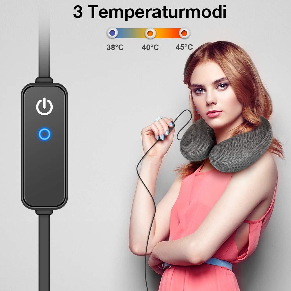 GRAPHENE TIMES Coussin Gonflable Coussin de Nuque Chaud Type U Chauffant USB /électrique chauff/é par USB pour la r/éparation du Cou