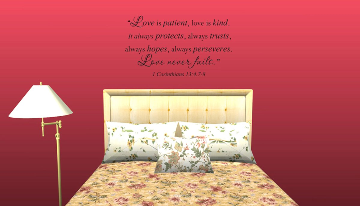 Amazon.com: Wall Decal Quote Love Is Patient Love Is Kind It Always ...