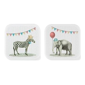 Babyvoeding série 3 x LUNCH BOX boîtes à DÉJEUNER goûter enfant ANIMAUX TIGRE rangement