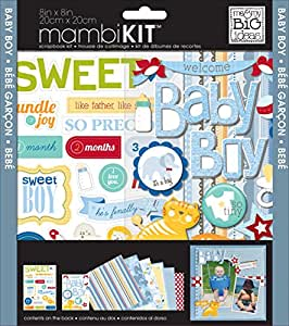 me & my BIG ideas mambiKIT 8-Inch x 8-Inch Scrapbook Page Kit, Baby Boy