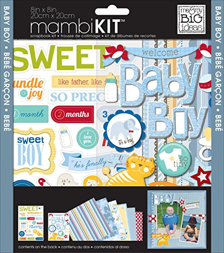 me & my BIG ideas mambiKIT Scrapbook Page Kit, Baby Boy, 8-Inch by (Paper Page Kit)