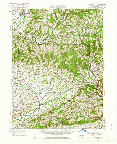 YellowMaps Hughesville PA topo map, 1:62500 scale, 15 X 15 Minute, Historical, 1953, updated 1962, 21 x 17 IN - (Hughesville Pa)