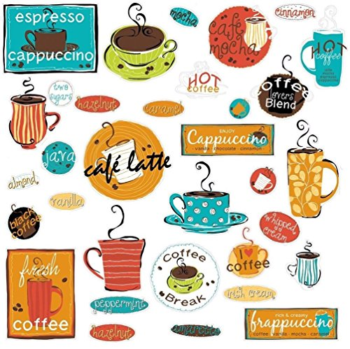Lunarland CAFE 32 BiG Wall Stickers COFFEE CUP JAVA Kitchen Room Decor Decals ESPRESSO New (Java Giraffe)