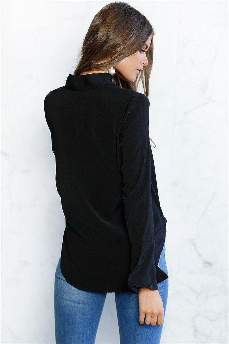 Blusas Chifon Camisetas Ropa de Mujer Camisas Moda Modelo SIL: Amazon.es: Ropa y accesorios